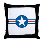 Air Force Roundel Throw Pillow