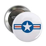 "Air Force Roundel 2.25"" Button (100 pack)"