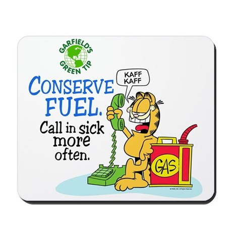 Conserve Fuel Mousepad