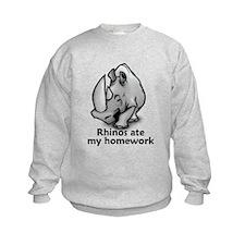 Rhinos ate my homework Sweatshirt