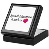 Special Education, A Work Of Love Keepsake Box