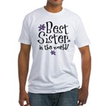 Best Sister Flower Fitted T-Shirt