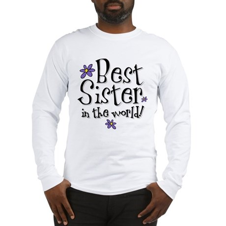 Best Sister Flower Long Sleeve T-Shirt