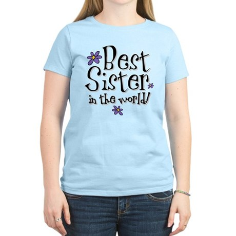 Best Sister Flower Women's Light T-Shirt