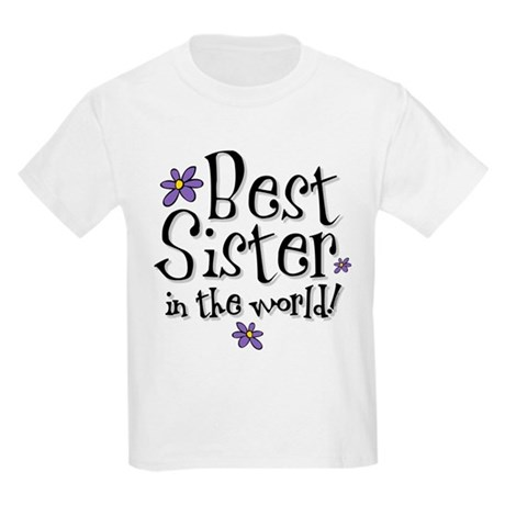 Best Sister Flower Kids Light T-Shirt