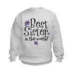 Best Sister Flower Kids Sweatshirt
