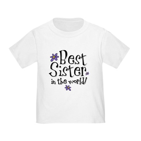 Best Sister Flower Toddler T-Shirt