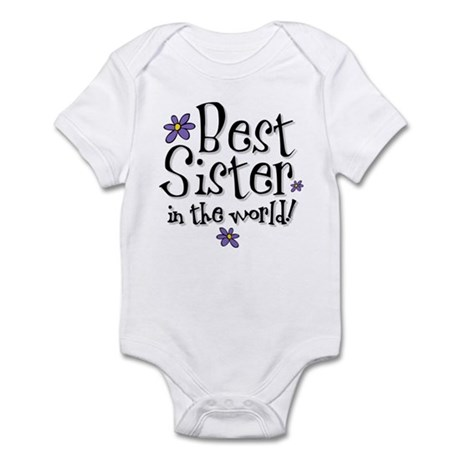 Best Sister Flower Infant Bodysuit