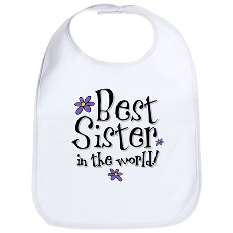 Best Sister Flower Bib
