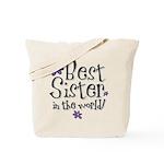 Best Sister Flower Tote Bag