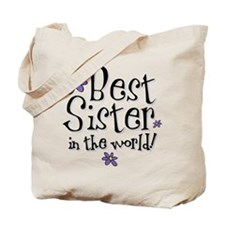 Best Sister Flower Tote Bag