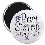 Best Sister Flower Magnet