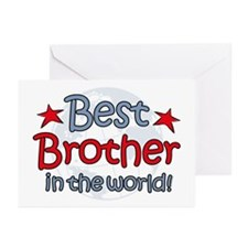 Best Brother Globe Greeting Cards (Pk of 10)