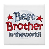 Best Brother Globe Tile Coaster
