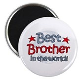 Best Brother Globe Magnet