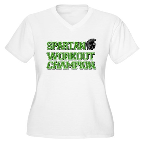 Spartan Workout Women's Plus Size V-Neck T-Shirt