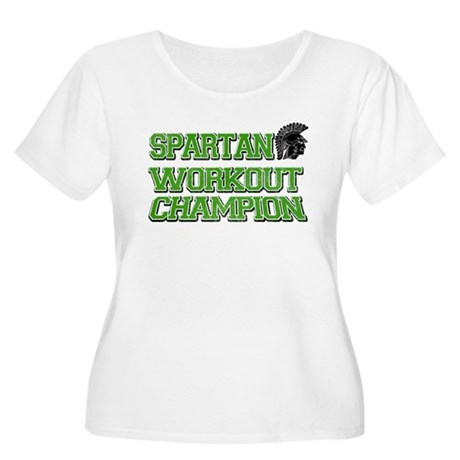 Spartan Workout Women's Plus Size Scoop Neck T-Shi