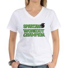 Spartan Workout Women's V-Neck T-Shirt