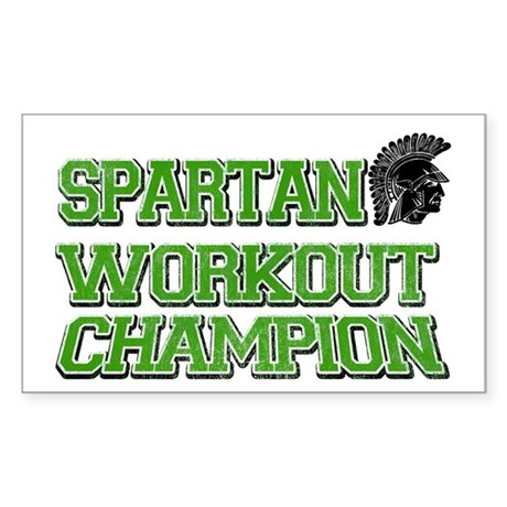 Spartan Workout Rectangle Sticker