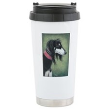 Saluki (Black and Silver) Ceramic Travel Mug