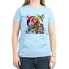 Lucky Peace Sign Collage T-Shirt