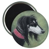"Saluki (Black and Silver) 2.25"" Magnet (10 pack)"