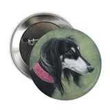 Saluki (Black and Silver) 2.25&quot; Button