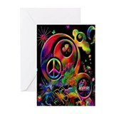 Lucky Peace Sign Collage Greeting Cards (Pk of 10)