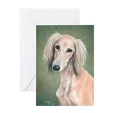 Saluki (Fawn) Greeting Card