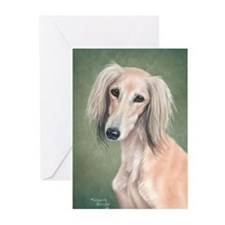 Saluki (Fawn) Greeting Cards (Pk of 10)