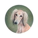 Saluki (Fawn) 3.5&quot; Button