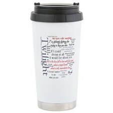 Twilight Quote Block Ceramic Travel Mug