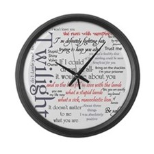 Twilight Quote Block Large Wall Clock