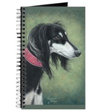 Saluki (Black and Silver) Journal