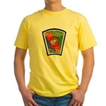 Bell-Cudahy Police Yellow T-Shirt