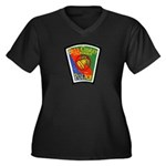 Bell-Cudahy Police Women's Plus Size V-Neck Dark T