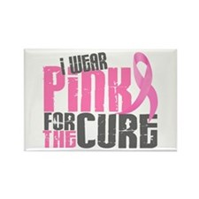 I Wear Pink For The Cure 6.2 Rectangle Magnet