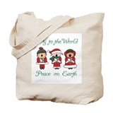 Christmas Caroler Tote Bag