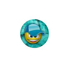 Hat Smiley Mini Button