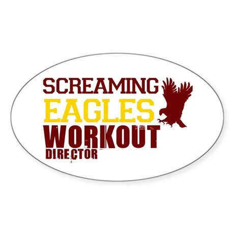 Eagles Workout Oval Sticker