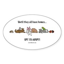 Oval Sticker opt to adopt