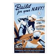 "WWII ""Build for the Navy"" Postcards (Package of 8)"