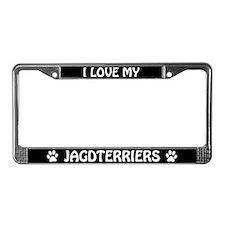 I Love My Jagdterriers (Plural) License Frame