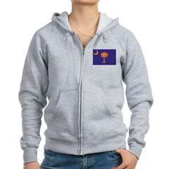 Orange and Purple SC Flag Women's Zip Hoodie