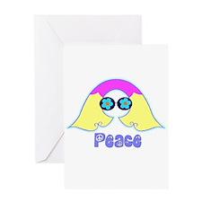 Peace Flower Power Greeting Card
