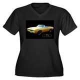 Pontiac GTO Women's Plus Size V-Neck Dark T-Shirt