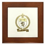 MAUDOUX Family Crest Framed Tile