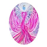 Twin Flame Angel Oval Ornament