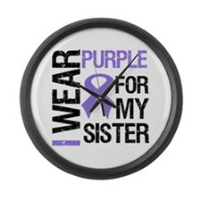 IWearPurple Sister Large Wall Clock