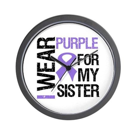 IWearPurple Sister Wall Clock